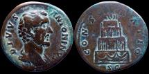 Ancient Coins - ANTONINUS PIUS - Sestertius under Marc Aurel - CONSECRATIO - Funeral Pyre