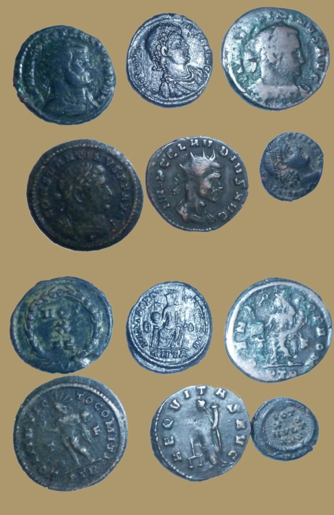 Ancient Coins - lot of 6 Roman coins