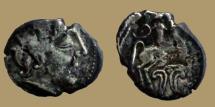 Ancient Coins - GAUL - Uncertain Bituriges Cubi - Carnutes - Pictons  - Drachme au cavalier et fleuron - scarce