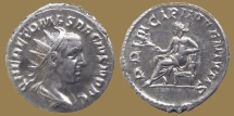Ancient Coins - HERENNIUS ETRUSCUS - AR Antoninianus - PRINCIPI IVVENTVTIS