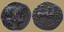 Ancient Coins - Publius Calpurnius - AR Denarius -  133 BC -  Rome mint - Cr.247/1 - scarce