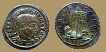 Ancient Coins - Constantine I - AE reduced Follis - VIRTVS EXERCIT - Ticinum - RIC.114