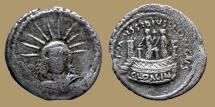 Ancient Coins - Roman Republic - AR Denar - MUSSIDIUS LONGUS - Rome 42 BC