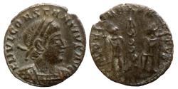 Ancient Coins - Constantius II AVG - AE nummus - GLORIA EXERCITVS - Trier - RIC.82