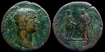 Ancient Coins - HADRIAN - AE Sestertius - FORTVNA REDVCI