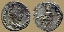 Ancient Coins - HERENNIUS ETRUSCUS, as Caesar - Billon Antoninianus - PRINC IVVENT Apollo - RIC.44b R!