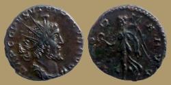 Ancient Coins -  Tetricus I - Antoninianus - Very Rare ESVVIVS Obv. Legend - VICTORIA AVG - high grade for type