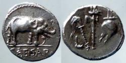 Ancient Coins - Julius Caesar-  AR Denarius - Military mint travelling with Caesar, 49-48 BC - Quality