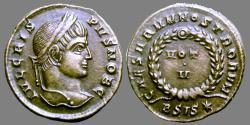 Ancient Coins - Crispus - AE reduced follis - CAESARVM NOSTRORVM - VOT V - Siscia - RIC.161