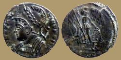 Ancient Coins - CONSTANTINOPOLIS - Ae reduced Follis - Lyon mint - RIC. 266 R3