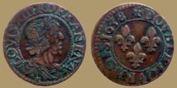 World Coins - FRANCE - Louis XIII - Double tournois 1638 E = Tours - nice