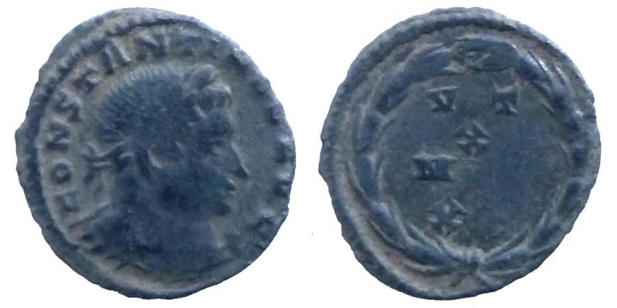 Ancient Coins - Constantine I - Æ Quarter Follis - VOT/X/MVL/XX - RIC.913 Rare