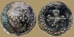 World Coins - FRANCE - Louis XI - Gros du Roi - Perpignan mint