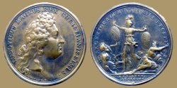 World Coins - Louis XIV - Medal - Strasbourg and Casale given to the King - 1681 - Restrike before 1830