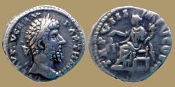 Ancient Coins - Lucius Verus - AR Denarius - TR P VIII - IMP V COS III Aequitas - RIC.595