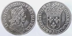 World Coins - FRANCE - Louis XIII - 1/12 ecu - 2° poincon de Warin - 1643 A dot