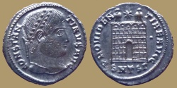 Ancient Coins - Constantine I - AE Reduced Follis – PROVIDENTIAE AVGG - SMTSG -Thessalonica mint