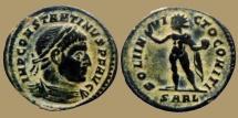 Constantine I - AE reduced Follis - SOLI INVICTO COMITI - Arles - RIC.41 - Rare