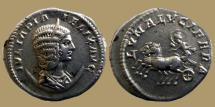Ancient Coins - Julia Domna - AR Antoninianus - LVNA LVCIFERA - RIC.379a - scarce