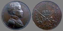 World Coins - France - Henri V - Æ Medal - Association of French Youth - 1833