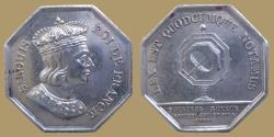 World Coins - France - Notarial Token - AR jeton - SENS - Bust of SAINT LOUIS