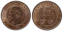 World Coins - Napoleon III - 2 centimes 1855 BB - Highgrade