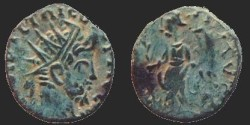 Ancient Coins - Tetricus I - Antoninianus - VICTORIA AVG - Local imitation