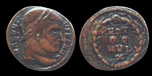 Ancient Coins - MAXENTIUS - AE quarter Follis - VOT / QQ /  MVL / X - Rome mint - Scarce