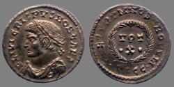 Ancient Coins - Crispus - AE reduced follis - CAESARVM NOSTRORVM VOT X - Lyon - RIC.220 R3