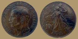 World Coins - Italy - 10 centesimi 1911 - KM.51
