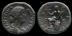 Ancient Coins - Faustina Filia - AE Sestertius - CERES  scarce