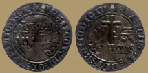 World Coins - Anglo-Gallic, French Royal Coinage, Henry VI (As King of France 1422-1453), Grand Blanc aux Écus - Saint Lo mint