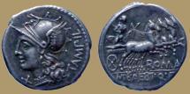 Ancient Coins - M. Baebius Q.f. Tampilus -  AR Denarius - 137 BC - Rome mint - Cr.236/1c - Quality
