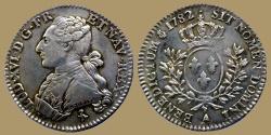 World Coins - France - Louis XVI - 1/5 ecu 1785 A - nice