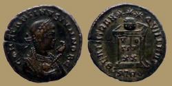 Ancient Coins - CONSTANTINE II Caes - AE reduced follis - BEATA TRANQVILLITAS - Trier mint -  RIC.412 R3
