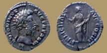 Ancient Coins - Marcus Aurelius - AR denarius - FELICITAS AVG COS III - Minarva with owl - RIC.218