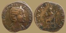 Ancient Coins - OTACILIA DEVERA - AE Sestertius - PVDICITIA AVG - RIC.209a - Portrait !!!