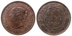 World Coins - Canada - Victoria - 1 cent 1859 - Quality