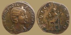 Ancient Coins - OTACILIA SEVERA - AE Sestertius - PVDICITIA AVG - RIC.209a - Portrait !!!