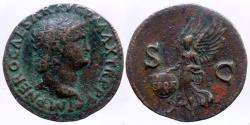 Ancient Coins - Nero - AE AS - Victory - Lyon - RIC.583