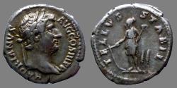 Ancient Coins - Hadrian - AR Denarius - TELLVS STABIL - RIC.276