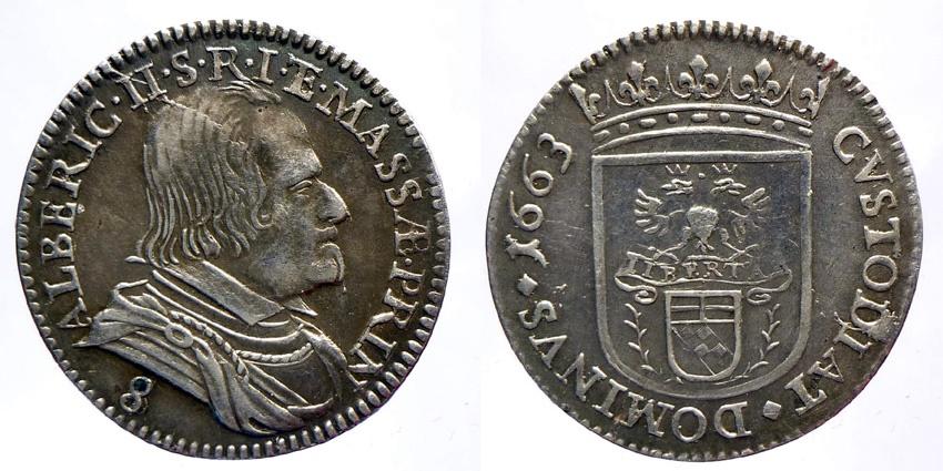 World Coins - ITALY - Alberico II Cybo Malaspina Principe (1662-1664) - 8 Bolognini (Luigino) 1663