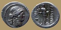Ancient Coins - Roman Imperatorial, P. Clodius M.f. Turrinus, Denarius, Rome