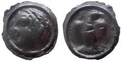 Ancient Coins - GAUL - Carnutes Trib - Potin à l'aigle de face - scarce