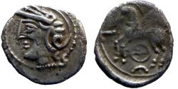 Ancient Coins - Celtic Gaul - Lingons - AR Quinarius - KALETEDOY- nice!