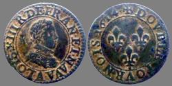World Coins - FRANCE - Louis XIII - Double tournois 1614 A = Paris - nice