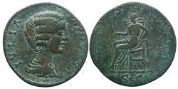 Ancient Coins - Julia Domna - AE sestertius - VESTA - RIC.867 - Local mint