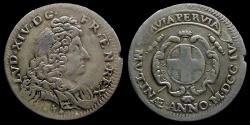 World Coins - ITALY - Modena - LOUIS XIV - 3 sols (Mezza Lira) 1704