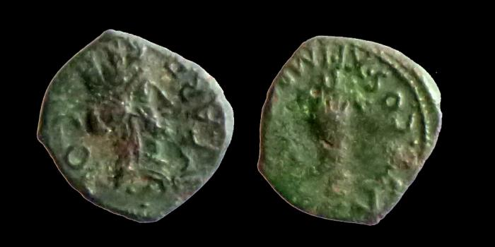 Ancient Coins - GAUL - Cabellio - Augustus. 27 BC-AD 14. - Æ Quadrans