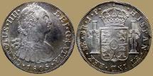 World Coins - PERU - Carolus IV of Spain - 8 Reales - 1805 Lima - KM.97 - QUALITY